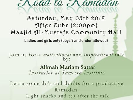 Road to Ramadan (5/5 @ 2 PM)