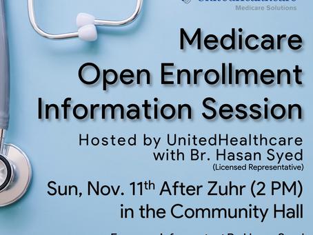 Medicare Open Enrollment Information Session (11/11)