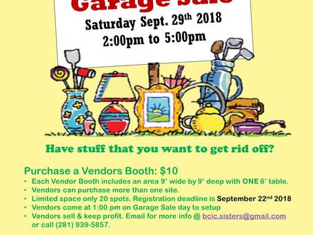 Community Garage Sale (9/29)