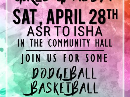 April Girl's Game Day (4/28)