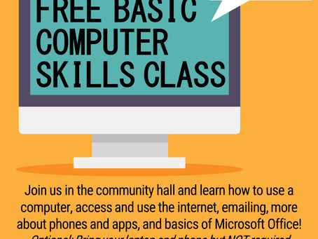 Free Basic Computer Skills Class (3/17 @ 9 AM)