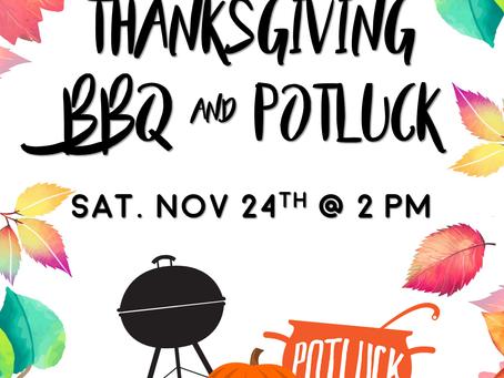 Thanksgiving BBQ & Potluck (11/24)
