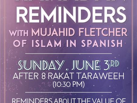 Ramadan Reminders (6/3)