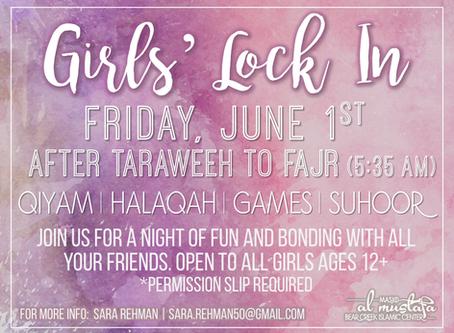 Girls' Lock-In (6/1)