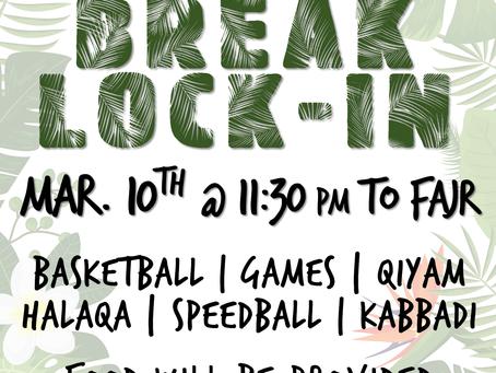 Brother's Spring Break Lock-In (3/10-11)