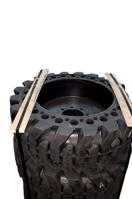 Solid Rubber SkidSteer Tires 12x16.5