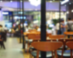 Abstract blurred background of resturant