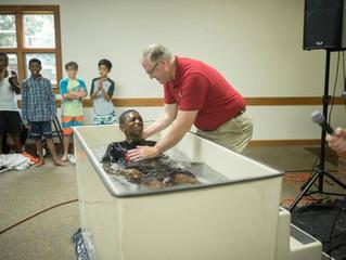 25 Children Baptized at Summer Camps