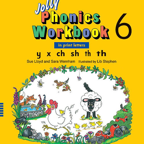 Jolly Phonics Workbook 6 (in print letters)