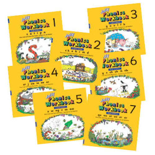 Jolly Phonics Workbooks 1–7 (in print letters)