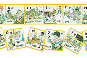 Jolly Phonics Wall Frieze (in print letters)