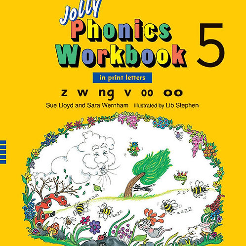 Jolly Phonics Workbook 5 (in print letters)