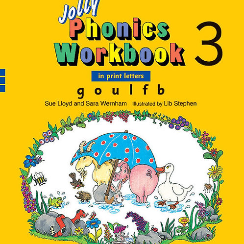 Jolly Phonics Workbook 3 (in print letters)