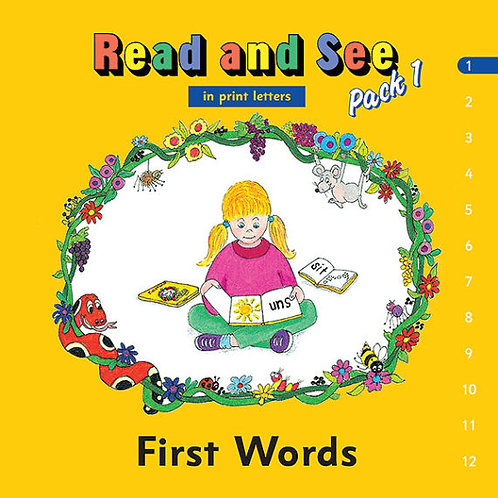 Jolly Phonics Read and See, Pack 1 (in print letters)