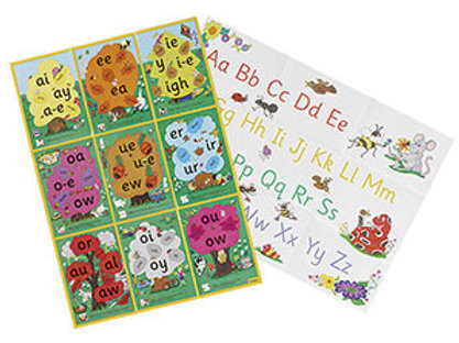 Jolly Phonics Alternative Spelling & Alphabet Posters (in print letters)