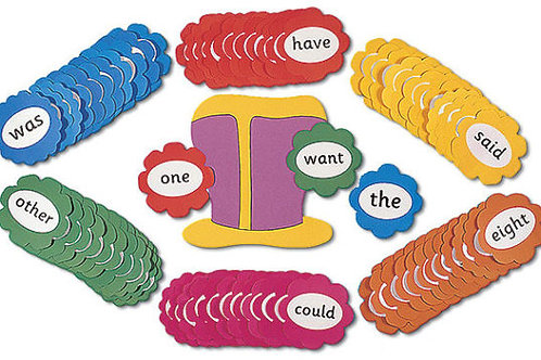 Jolly Phonics Tricky Word Wall Flowers (in print letters)