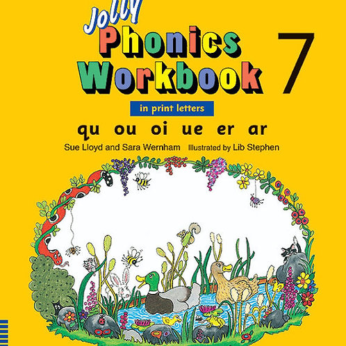 Jolly Phonics Workbook 7 (in print letters)