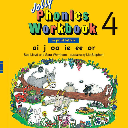 Jolly Phonics Workbook 4 (in print letters)