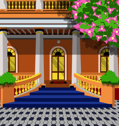 Pondy House Illustration