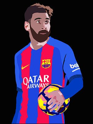 Potrait Of Messi