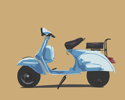Chetak Scooter Illustration