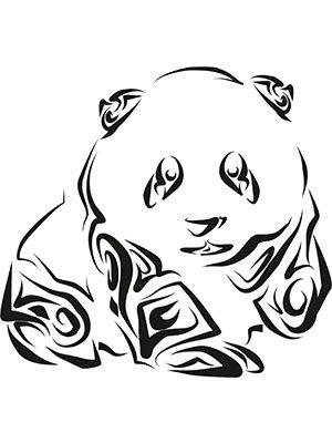 Panda Line Art