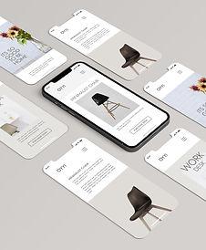 UI UX website design mockup images