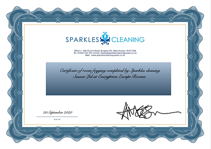 Sparkles Certificate