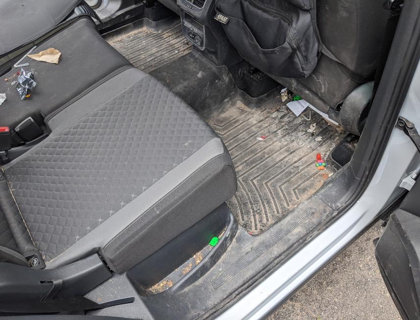 Tiguan Interior Rear Dirty