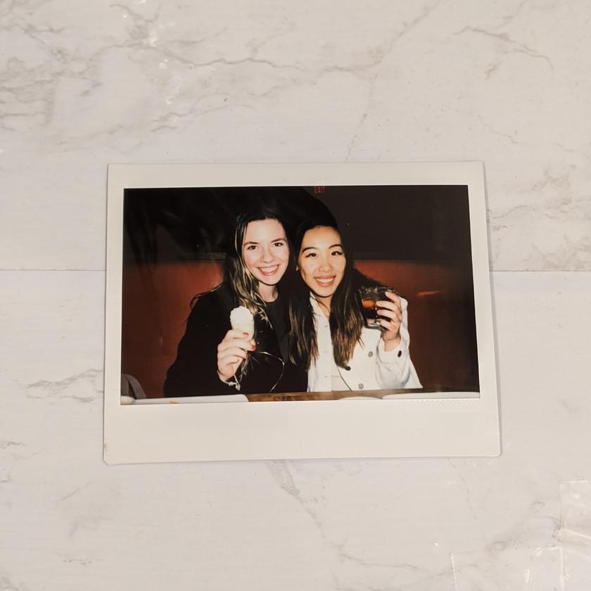 Polaroid at cactus club cafe birthday shots