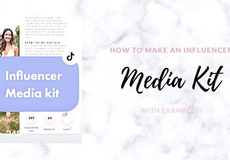 How to Make an Influencer Media Kit