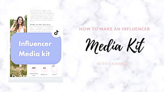 How to Make an Influencer Media Kit