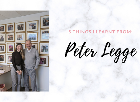 5 Lessons From Peter Legge