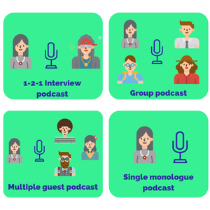 Podcast format options