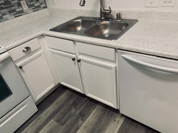 After cabinet & counter top resurfacing