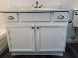 After cabinet & vanity top resurfacing