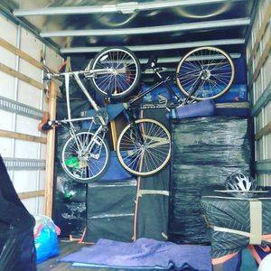 Bike packed in truck