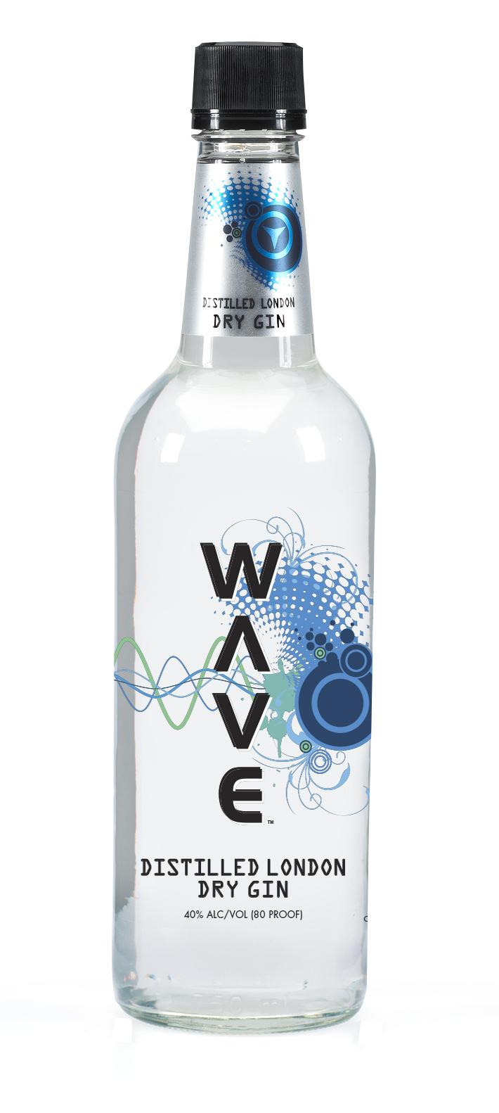 Wave Gin bottle comp (750)