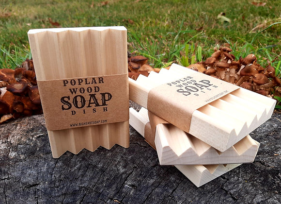 Poplar Wood Soap Dish
