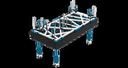 Mesa soldadura fabricación perfiles