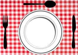 Gabarits Mise en place de la Table - Classique avec fond en tissu - Pasapas - Amalgames (2