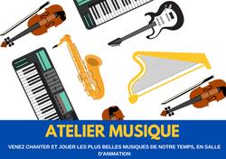 Affiche - Atelier Musique - format paysage - Amalgames