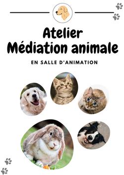 Affiche Atelier médiation animale - portrait - Amalgames