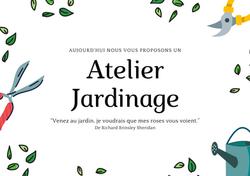 Affiche - Atelier Jardinage - format paysage - Amalgames