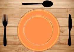 Gabarits Mise en place de la Table - Classique avec fond en tissu - Pasapas - Amalgames (1