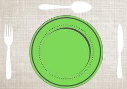 Gabarits Mise en place de la Table - Classique avec fond en tissu - Pasapas - Amalgames (3