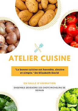 Affiche - attelier cuisine 2 - Amalgames