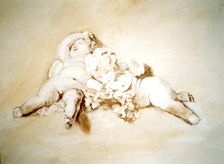 Peintre en décors Décor sur toile Chérubins de Fragonard