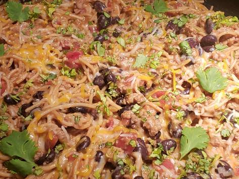 One-Pan Taco Spaghetti
