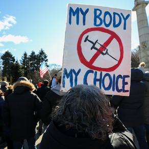Anti-vaxxers co-opt feminist rhetoric